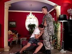 Gay hunk nailed with dong