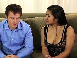 Asian masseuse rides cock