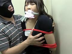 chinese Girls bound In douche