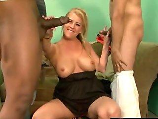 Hottie seduces cougar for lesbian action