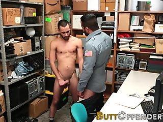 Facialized gay shoplifter
