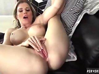 Sexy young pornstar Hannah West sucking a big hard dong