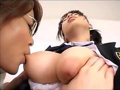 asian lesbian enjoy Sucking Big Natural Of Rika