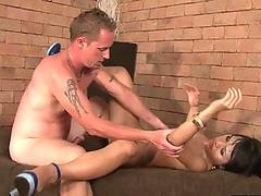 electric and slim brunette fuck-a-thon bomb Thai stunner rides