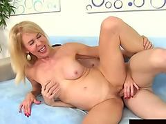 junior dude Pleasures Naughty Grandma Erica Lauren with Tongue and sausage