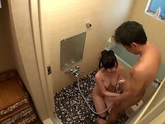 Japanese step daughter Yuma Miyazaki is gently s