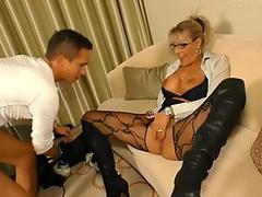 AmateurEuro - Super Hot Mature StepMom Seduces and Fucks Young Son