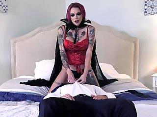 Horny Vampire MILF Devours Big Cock and Gets Pussy Pounded