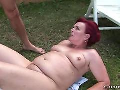 Techno Milf fists husband challenging the ass