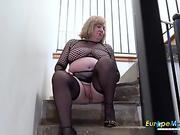 RIM4K. Man fixes appliances in the kitchen and gets his ass licked