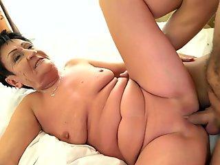 Lesbea Orgasms for lez interracial 3some