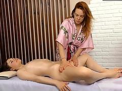 Silvia massaged by a horny lesbian