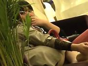 Candid japanese Nylon tights soles Soles
