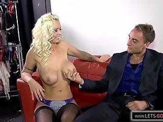 Mature fucking in nylon