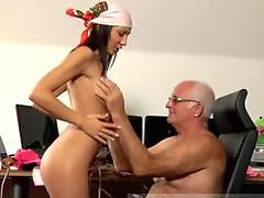Blonde chick Liz Honey gets facialized by a cock after a wild fuckin round