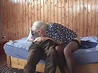 Young hung stud pounds the life out of horny sexy grandmother