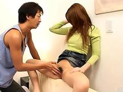 Doggystyle drilling for charming oriental babe