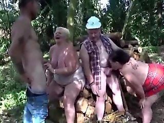 Fake lumberjacks get to fuck two busty BBWs