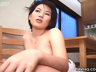 Big hoe Kiyomi gets fucked with a toy