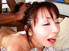 Japanese slut Marica Hase loves his black cock drilling her tight cunt