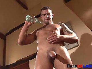 Buff euro stud strips and strokes hard dong