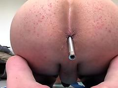 Young boy playing with anal