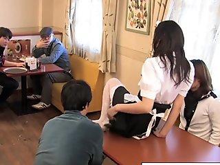 japanese waitress food group sex