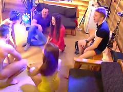 sexy student femmes flash sloppy dances and get fucked