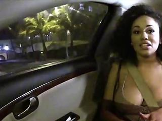 Curly hair beauty fucked outdoors Julie Kay.1.1