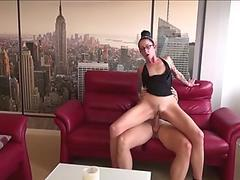 Japanese babe receives rough doggystyle drilling