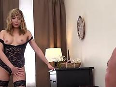 Doggystyle fucked amateur spreads her ass