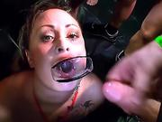 Filthy Cumslut Blows And tears up In dirty hump