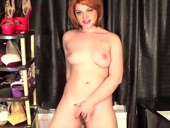 crimson hair bitch having an intense mammary ejaculation