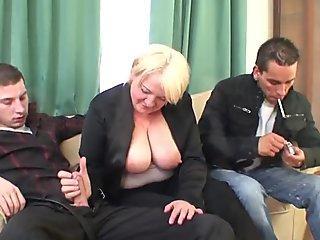 Blonde big tit femdom Denice