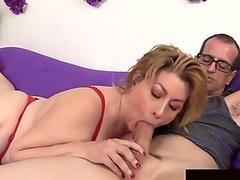 juicy Granny Penny Sue Enjoys Sucking and Fucking a firm spunk-pump