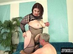 A Guy Worships BBW Nova Jade's Fat Body and Then Fucks Her Hard
