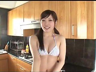 Thrifty ardent and seductive Rina Nakanishi loves working on camera