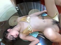 Hot shemale pov and cumshot
