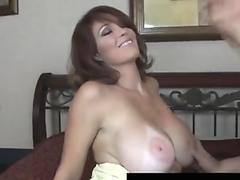 Free Busty Carmen Hayes receives cum on her huge tits