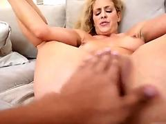 Old blond milf fucks young first time Fucking The Stepcrony's son As
