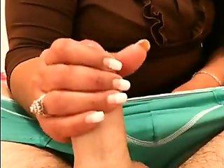 Red haired chick moans while her wet fluffy pussy gets tickled