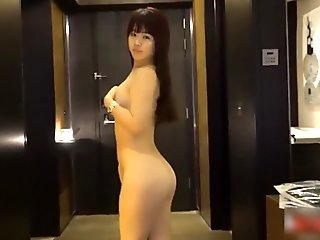 Young asian girl nude in hotel room