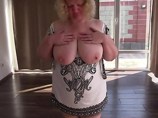 assfuck mature milf gigantic melons view through the window