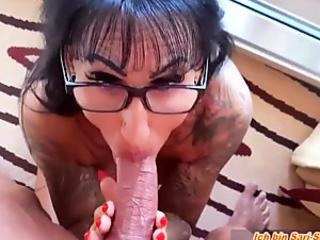 MEGA Facial area Face CUMSHOT WITH Eye glasses Languages like german Significant Knockers MILF