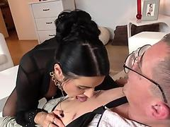Nerd makes big tits Milf squirting