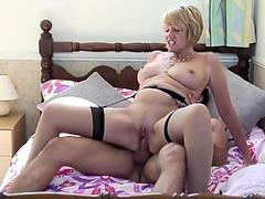 boys poke mature moms and granny