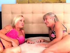 seemom-Mature ladies tag-team a dick
