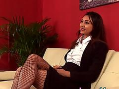 Asian cfnm mistress laughs at loser