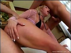 Nikki Hunter takes one cock at a time in her mouth like hard lollipops