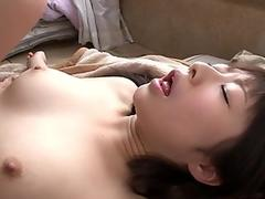 flat chested japanese toys her shaggy slit for the camera